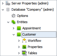 Manage Database Configuration